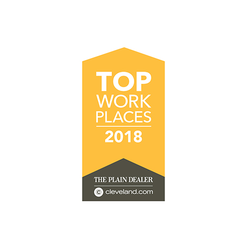 The Plain Dealer Top Work Places 2018.