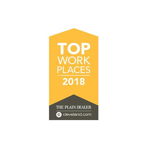 The Plain Dealer Top Work Places 2018.