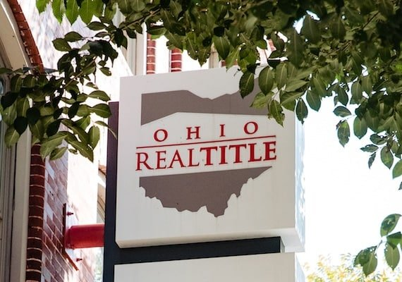 The Ohio Real Title building sign.